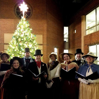 Pickwick Players as Dickens Carolors