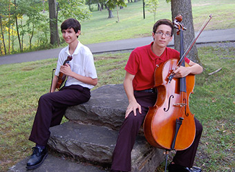 violinist, Ted Froelich and Cellist, JV Ortman,
